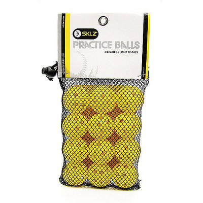 Sklz Limited Flight Small Practice Balls 12-Ball Pack
