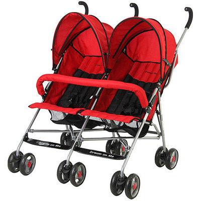 Dream On Me Twin Stroller - Red - 1 ct.