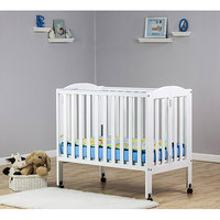 Dream On Me - 2-in-1 Portable Folding Crib, Cherry