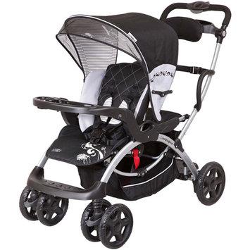 Mia Moda Compagno stroller in Black Black/grey