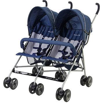 Dream On Me Twin Stroller - Navy