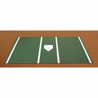 Trigon Sports International Inc Trigon Sports Pro Baseball Turf Home Plate Mat in Green