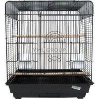 Yml Flat Top Small Table Top Bird Cage Color: Black