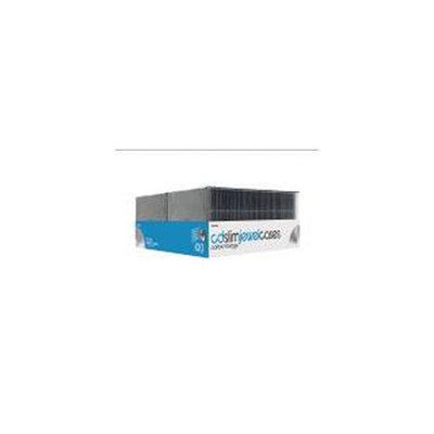 Merax CD Slim Jewel Cases with Black Trays, 100pk