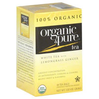 Organic & Pure Organic and Pure White Tea With Lemongrass, - Pack of 6