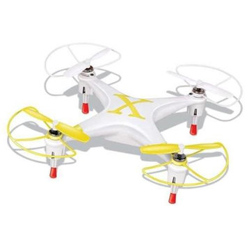 Microgear 2.4GHz Radio Controlled RC QX-827 4 Channel Mini Quadcopter - Yellow