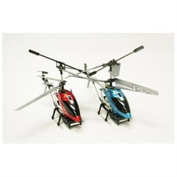 Microgear EC10218-BR 2 Pack Bundle - Qx-929 Rc 3.5 Channel Gyro Red Helicopter Ready To Fly