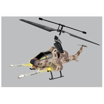 Microgear Remote Control RC Shark Shooter 3.5 Channel Gyro Helicopter - Brown