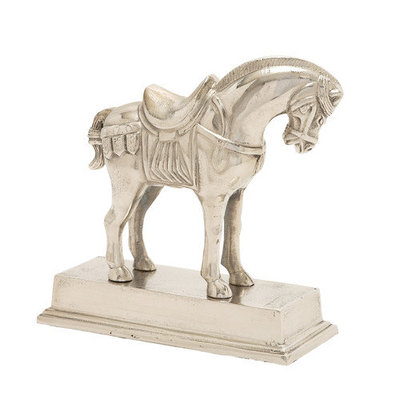 Benzara 16496 Horse with Base Aluminum