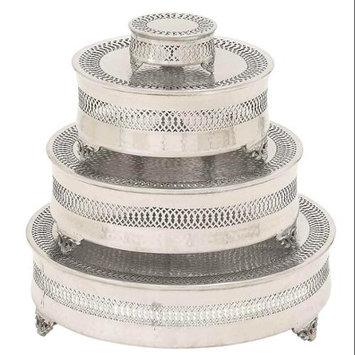 Benzara 23944 Metal Cake Plate Set of 4