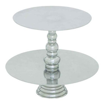 Woodland 27481 Exotic Stainless Steel Cupcake Stand with two tiers