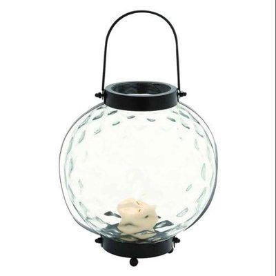 Benzara Modern Styled Indian Metal Glass Lantern