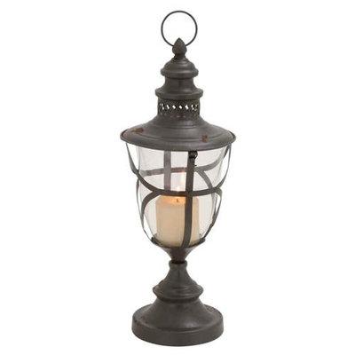 Benzara Fascinating Beautiful Styled Metal Glass Lantern