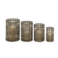 Benzara 52992 Metal Candle Holder Set of 4