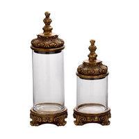 Benzara 53506 Polystone Glass Classic Jar Set of 2