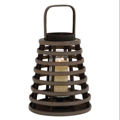 Benzara Unique and Attractive Basket Shaped Lantern