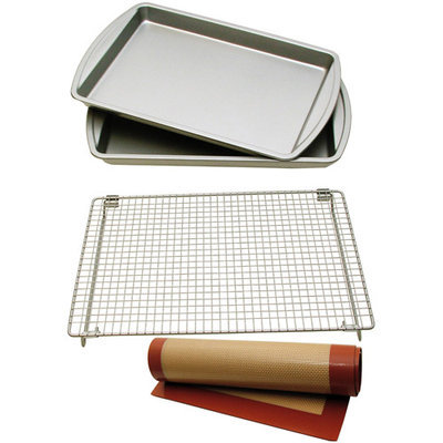 Lcm Home Fashions, Inc. Le Chef Nonstick 4-piece Cookie Bakeware Set