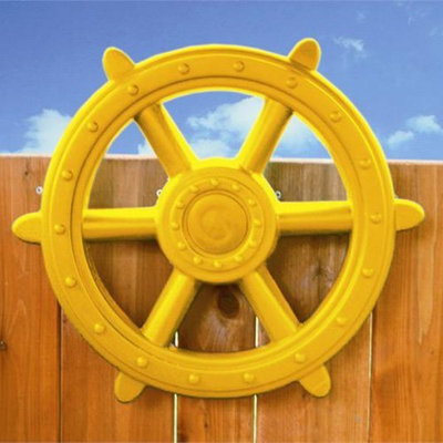 Kidgymz Eastern Jungle Gym Deluxe Ship's Wheel Yellow