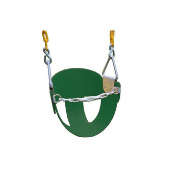 Kidgymz Heavy Duty High Back Half Bucket Swing with Coated Chain
