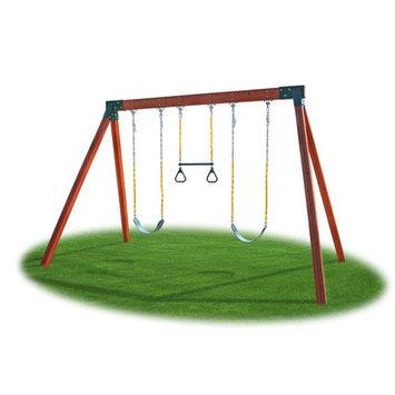 Kidgymz Eastern Jungle Gym Classic Cedar Swing Set