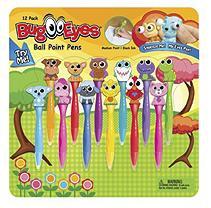 Inkology Bug Eyes Pen Set, Assorted Animals, 12 Pack