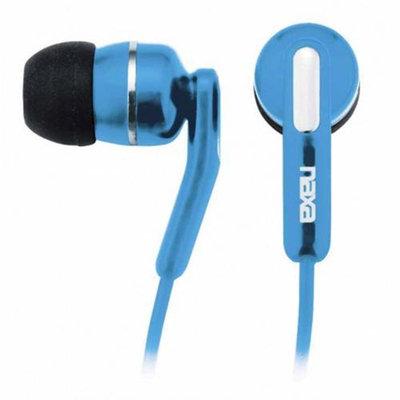 Naxa NE-921 High Performance Isolation Stereo In-Ear Earphones, 20-20000Hz Frequency Response, 3.5mm Stereo Plug, Blue