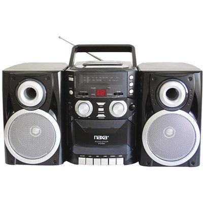 Naxa NPB426 Portable CD Player with AM/FM, Cassette Player/Recorder