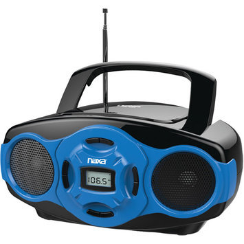 Naxa Blue NPB-264 Portable Mini MP3/CD AM/FM Radio and USB Boombox