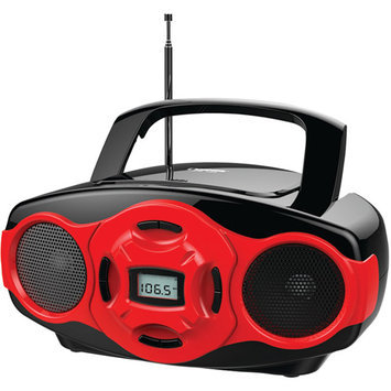 Naxa Red NPB-264 Portable Mini MP3/CD AM/FM Radio and USB Player Boombox