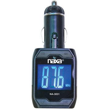 Naxa Electronics WIRELESS FM TRANSMITTER WITH BUILT-IN MP