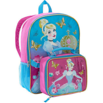 Fast Forward Cinderella Backpack With Lunch Bag