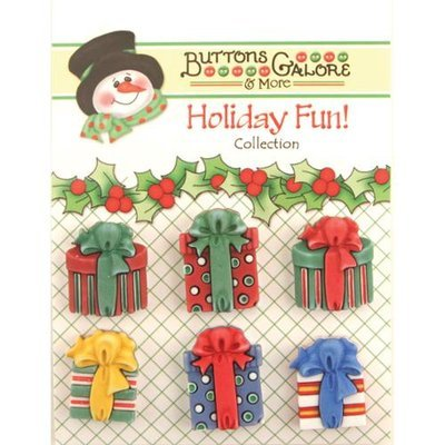 Buttons Galore CM-107 Holiday Fun Buttons-Christmas Presents