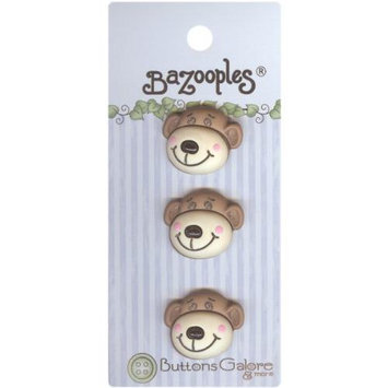Buttons Galore 93424 BaZooples Buttons-Max The Monkey