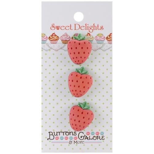 Buttons Galore SD-113 Sweet Delights Buttons-Strawberries