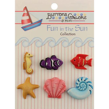 Buttons Galore 1460 Fun In The Sun Buttons-Ocean Wonders