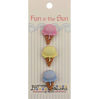 Buttons Galore 1460 Fun In The Sun Buttons-Single Scoop