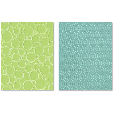 Sizzix Textured Impressions Embossing Folders, Circles & Dots Set