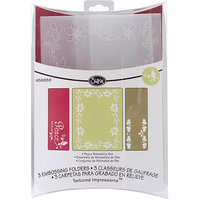 Sizzix Peace Poinsettia Textured Impressions Embossing Folders (Pack of 3)