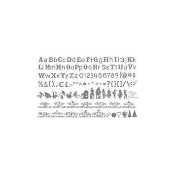 Ellison Sizzix eclips 12 Days of Christmas Shapes/ Alphabet Cartridge