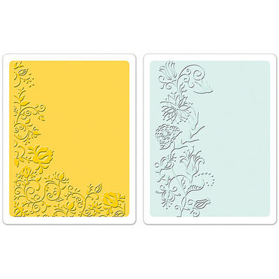 Sizzix Textured Impressions Embossing Folders, Floral Vines
