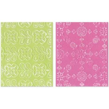 Ellison Sizzix 'Kaleidoscope Blooms' by Rachael Bright Embossing Folders (Set of 2)