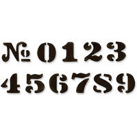 Sizzix Movers & Shapers Magnetic Dies By Tim Holtz 11/Pkg-Cargo Stencil Numbers