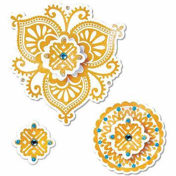 Ellison Educational Equipment Sizzix Framelits Stamp and Die-Cut Set, Moroccan Flowers
