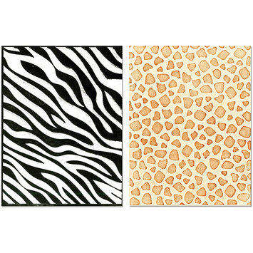 Sizzix Textured Impressions A2 Embossing Folders 2/Pkg-Animal Print 2