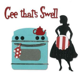 Sizzix Thinlits Dies 5/Pkg-Gee, That's Swell Kitchen