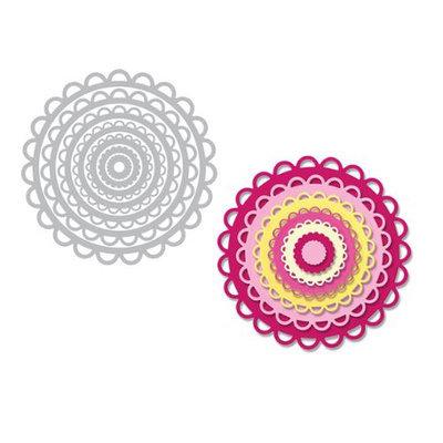 Sizzix Framelits Dies By Stephanie Barnard 7/Pkg-Scallop Circles