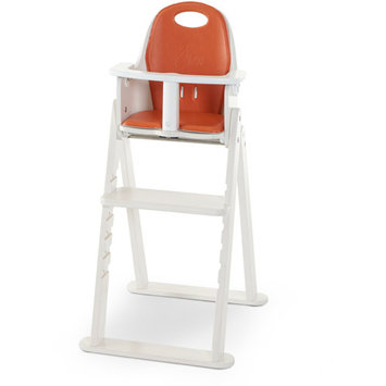 Svan Baby-to-Booster Bentwood High Chair (White Tangerine)