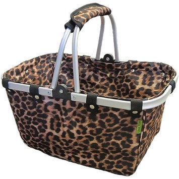 Janetbasket Leopard Large Aluminum Frame Basket - 18 X10 X9-1/2