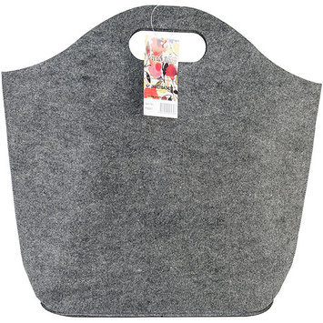 JanetBasket FS001 JanetBasket Charcoal Felt Sac-16.5 in. X5 in. X13 in.