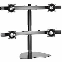 Chief Mfg. KTP445B Widescreen Quad Monitor Table Stand